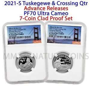 2021-S NGC PF70 Ultra Cameo Advance Releases Quarter Pair from 7-Coin Clad Set