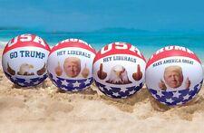 Donald Trump & American Eagle USA Red White blue Patriotic Beach Balls 4-Pack