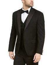 Alfani Men's Classic Fit Stretch Black Tuxedo Suit 42L / 34 x 34 Flat Pant