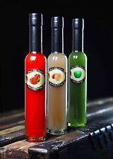 Fresh Fruit Vinegars 3 Pack Red Pepper, White Peach, Green Apple