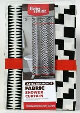 Black, Red, White Aztec Diamonds Geometric fabric SHOWER CURTAIN by BHG