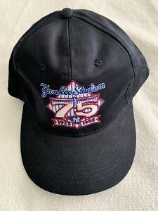 NY YANKEE STADIUM HAT 75TH ANNIVERSARY 1923-1998 SNAPBACK CAP ADIDAS FOOTLOCKER