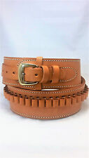 "Natural, 50"" - 55"" Hip* Size, Leather ..44/.45 cal Cartridge - Gun Belt, 2 1/2"""