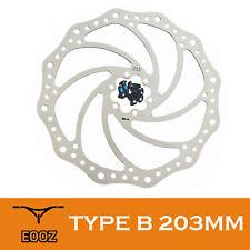 New Mountain Bikes Bicycle Disc Brake Rotors 203mm 1pcs + 6 Bolts