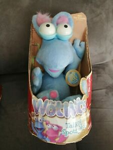 """12"""" cute soft talking spotty wot blue from the wotwots hasbro plush doll"""