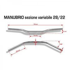 BARRACUDA MANUBRIO RACING MOTO NAKED 28/22 mm ARGENTO HANDLEBAR RACING HONDA