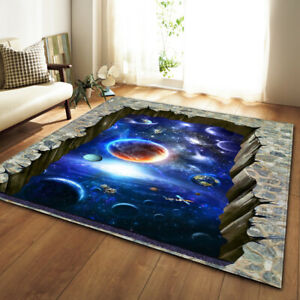 Universe Optical Illusion Small Large Long Floor Carpet Area Rugs Various Size