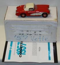 Franklin Mint 1957 Chevrolet Corvette Convertible 1/24 Lnib Red B11Tc55