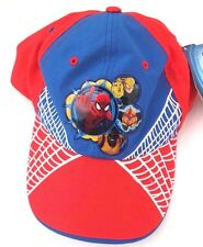 Marvel Comics Spider-Man Red Boy's Adjustable Snapback Cap Hat Free Shipping NWT