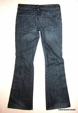 7 FOR ALL MANKIND Jeans LEXIE A POCKET Womens 28 Petite Dark Wash Boot Flare Leg