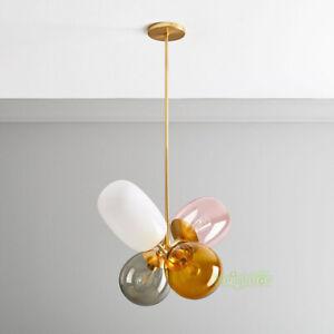 Modern Colored Glass Ball LED Pendant lamp Ceiling light Child's room Chandelier