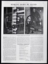 FRANK FUSSEL ROPE MAKER MAKING CASTLE CARY SOMERSET 1pp PHOTO ARTICLE 1973