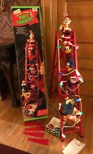 1994 Mr Christmas Looney Tunes Animated Tree Trimmers5 Characters w/box * Video