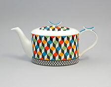 9952245 Porzellan Tee-Kanne Farbwürfel Jameson&Tailor 1,2l H14cm