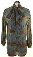 IMPERIAL Womens Shirt Blouse Size 14 Medium Multicoloured Silk Vintage A005