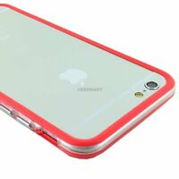 For iPhone 6S/Plus/6 Ultra Hybrid TPU Bumper Frame Case+Tempered Glass Screen