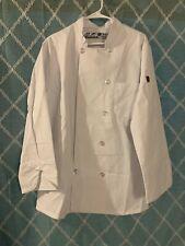 Chef Designs Unisex Ten Pearl Button Chef Coat Med Reg White Uniform New