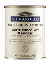 Ghirardelli Chocolate Sweet Ground White Chocolate Flavor Beverage Mix, 50 Ou.