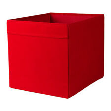 Ikea Drona Fabric Storage Box Toys Clothes fit Kallax Expedit - Red - Set of 2