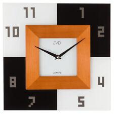 Orologio da parete in legno design con supporto in vetro idea regalo