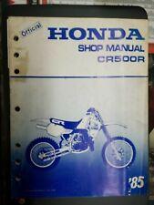 NOS OEM Honda Service Shop Manual  85 CR500R