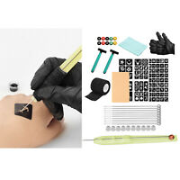 Safe Tattoo DIY Tools Hand Poke Pen Stick Tattoo Needles Kit Accessories