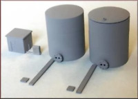 Knightwing PN19 N Gauge Oil Refinery Tanks (Pack 2) Plastic Kit