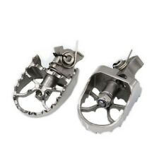 Pair FRW Dirt Front Silver Foot Pegs For BMW R1200GS 04-12 F650GS F800GS G650GS