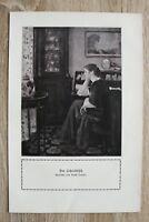 Kunstdruck 1 Blatt 1908/09 Am Schreibitsch nach Gemälde Ernst Oppler Frau Möbel