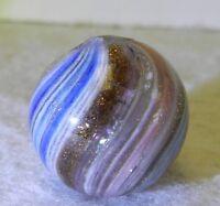 7176m Vintage German Handmade Onionskin Lutz Marble .67 Inches