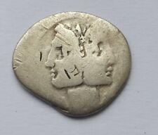 More details for rare ancient roman republican silver denarius head of god janus 153 b.c.