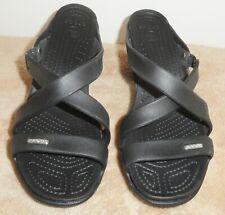 Crocs Women's #14558 Black Cyprus Heel Slip On Sandals Waterproof Size 9M