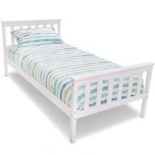 White Standard Bed Frames Bases for Children
