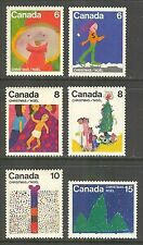 Canada #674-679, 1975 Christmas - Children's Drawings Set, Unused NH