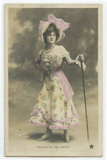 c 1905  French Theater Cabaret PAULETTE DEL BAY costume dancer photo postcard