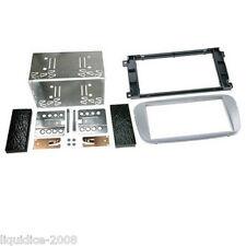 CT23FD09 FORD MONDEO 2007 to 2014 SILVER DOUBLE DIN FASCIA ADAPTER FITTING KIT
