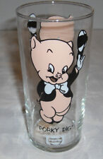 1973 Porky Pig Pepsi Glass LUN Logo Under Name BL Federal Thin