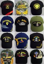 US Army Military Baseball Caps Embroidered  6 Pc Assorted Styles ( 7506A-6  Z)