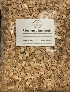 Räucherspäne grob 3 Ltr. - Buchenholzspäne, Räucherholz, Räuchermehl Buche