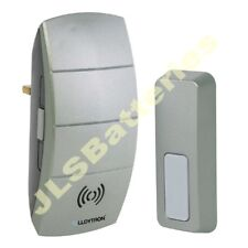 GREY Wireless PLUG IN Door Bell Chime 100m Mains doorbell Portable inc batteries