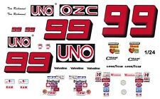 #99 Tim Richmond UNO Buick - Chevy 1/43rd Scale Slot Car Waterslide Decals