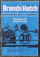BRANDS HATCH CLUBMAN'S CAR RACES PROGRAMME 24 NOV 1974