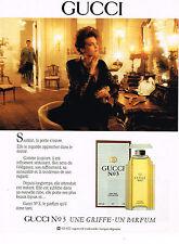 PUBLICITE ADVERTISING 025  1990  GUCCI N°3   parfum femme