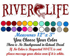 Redfish River Life Decal with Red Drum in the Center Sticker Fishing Fisherman