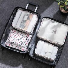 6pcs/Set Clothes Storage Bag Packing Cube Waterproof Travel Luggage Organize