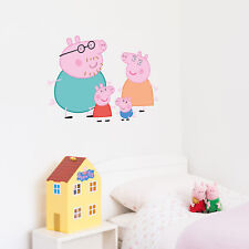 Official Peppa Pig and Family wall stickers set   Official Peppa Pig decor
