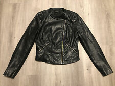 Zara Trafaluc Black PU Faux Leather Biker Style Jacket. Ladies Size Medium