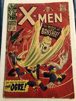 X-Men #28, GD 2.0, 1st Appearance Banshee