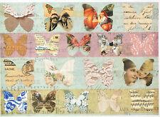 Papel De Arroz Para Decoupage Decopatch Scrapbook Craft Hoja Shabby Chic Mariposas