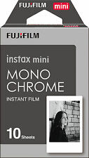 Fujifilm Fuji Instax Mini Monochrome 10 photo Film 7s 8 25 50s 70 90 Polaroid